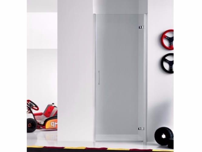 cabine de douche en niche en verre avec porte battante praia design 3 collection praia design. Black Bedroom Furniture Sets. Home Design Ideas