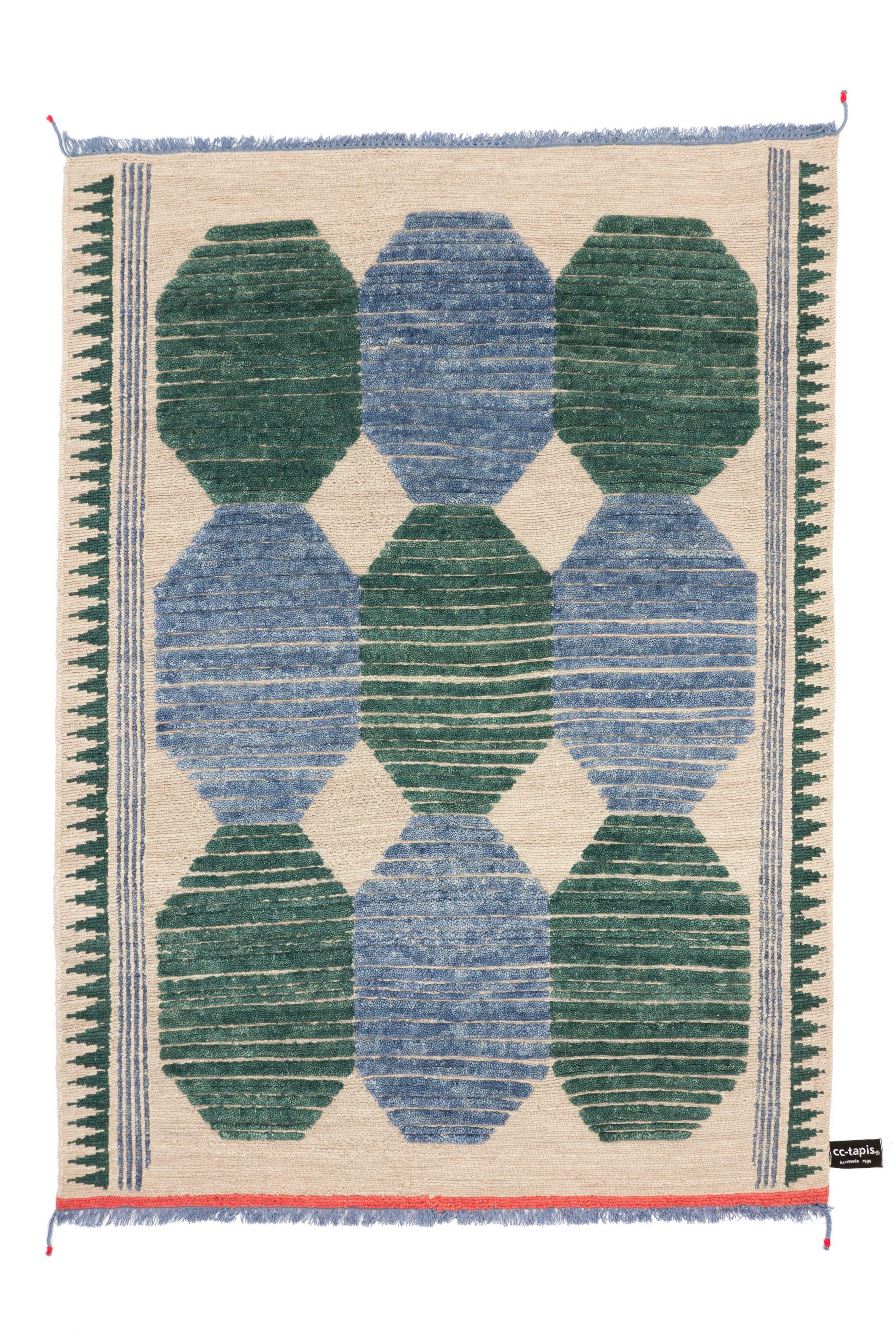 Handgearbeiteter rechteckiger Teppich PRIMITIVE WEAVE 3