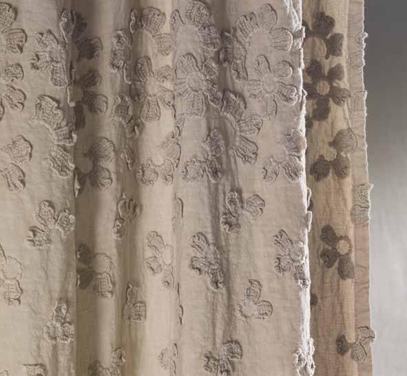Primula tenda a bastone collezione decor by la fabbrica del lino by bergianti pagliani design - La fabbrica del lino letto ...