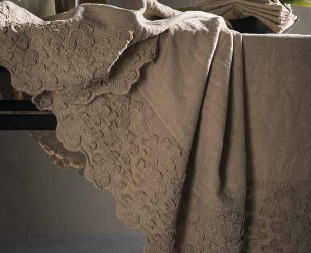 Tovaglia in lino primula collezione decor by la fabbrica del lino by bergianti pagliani design - La fabbrica del lino letto ...