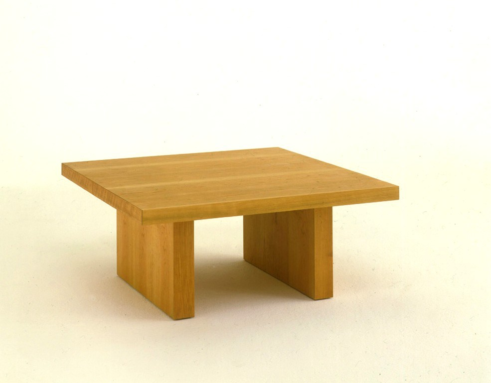 Low Square Solid Wood Coffee Table Day By Day Collection By Riva 1920 Design Maurizio Riva