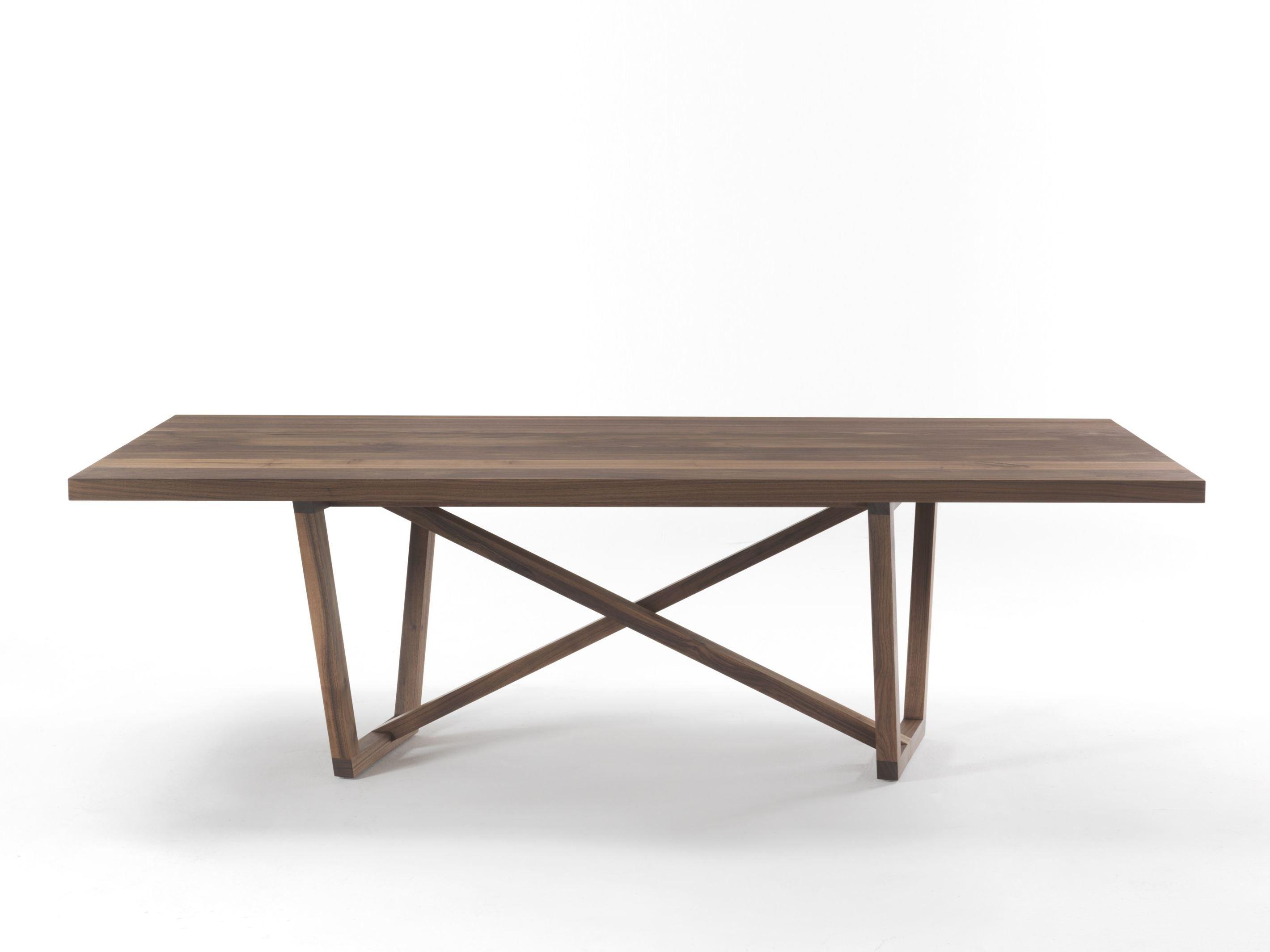 Tavolo rettangolare in legno traverso by riva 1920 design for Tavolo rettangolare design