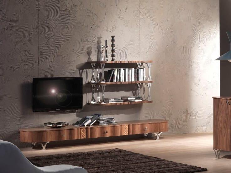 Mobili Tv Noce : Mobile tv basso in noce carpanelli contemporary