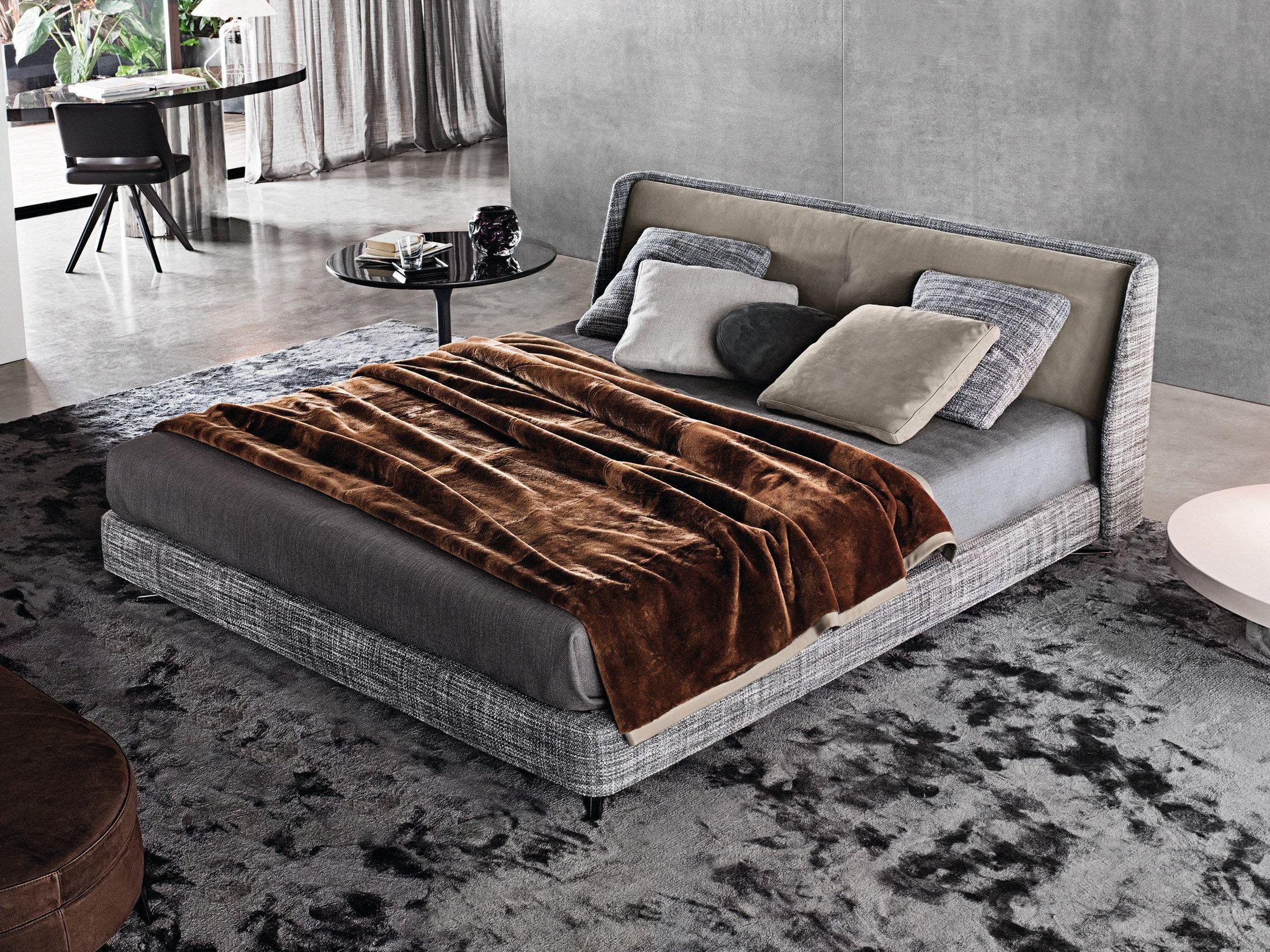cama doble spencer bed serie spencer by minotti. Black Bedroom Furniture Sets. Home Design Ideas