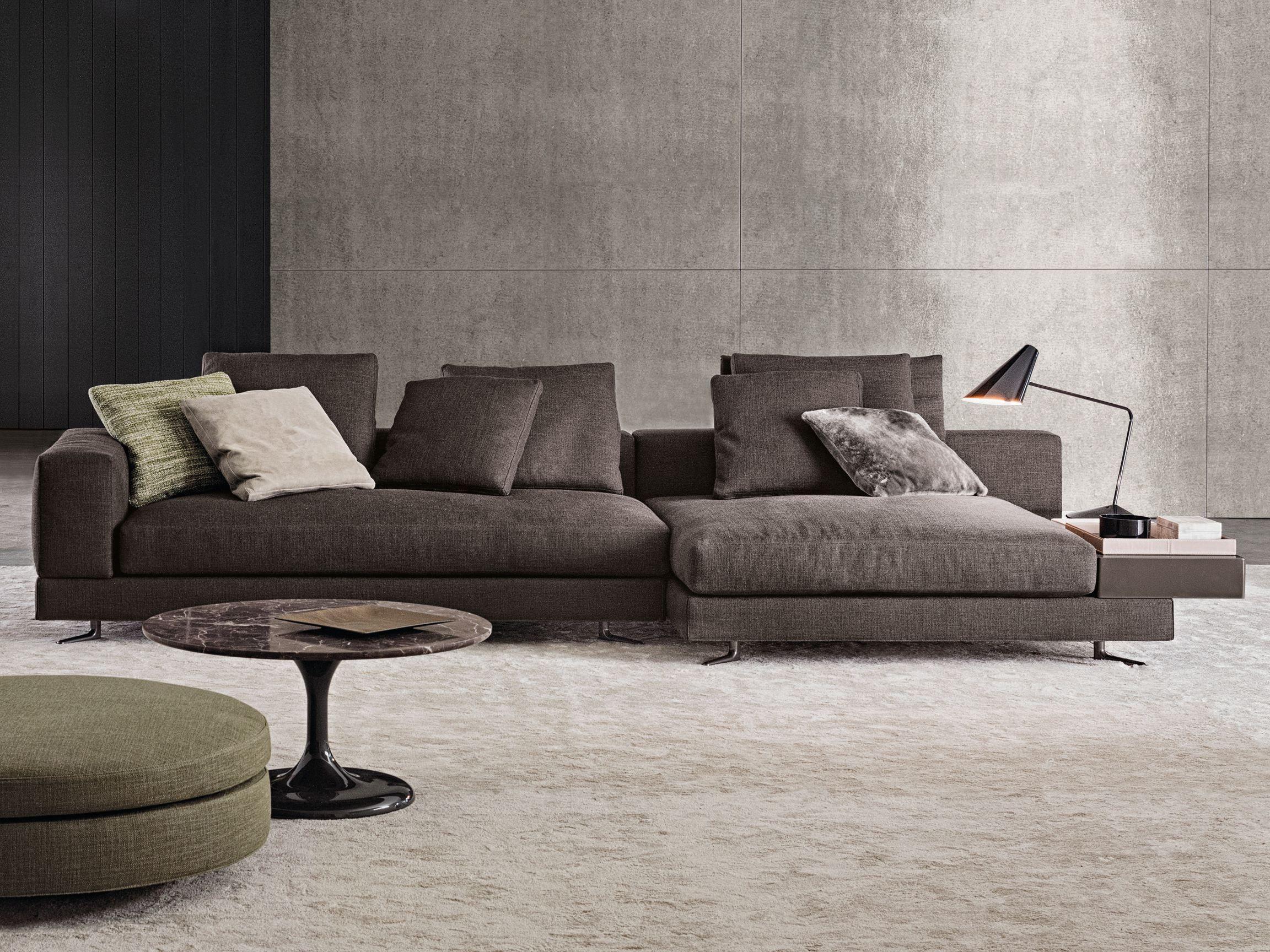 WHITE Fabric sofa by Minotti
