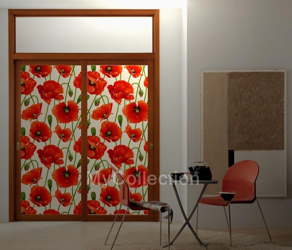 Vinilo decorativo para puertas poppies by for Vinilos decorativos armarios