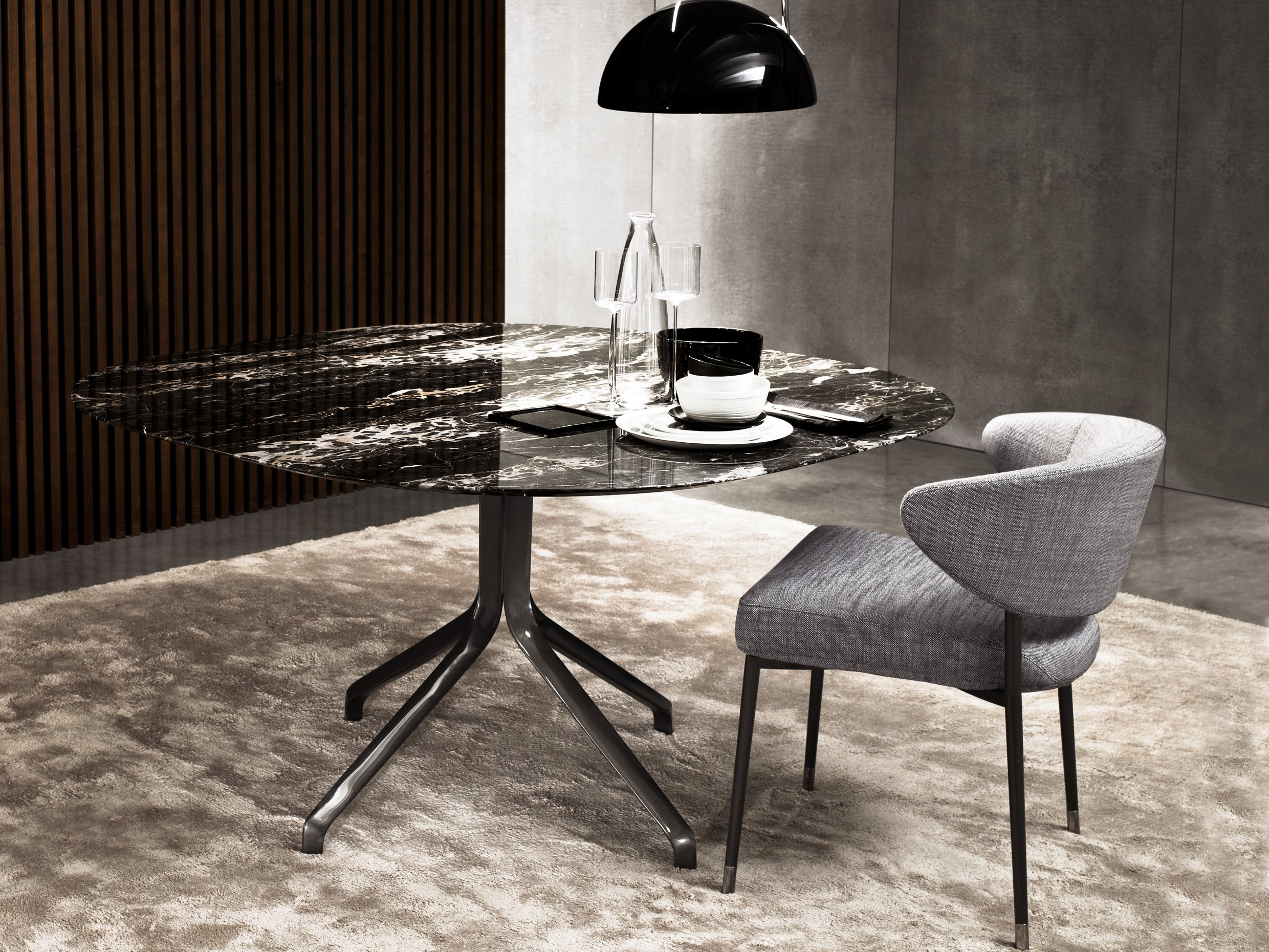 claydon tisch aus marmor by minotti. Black Bedroom Furniture Sets. Home Design Ideas