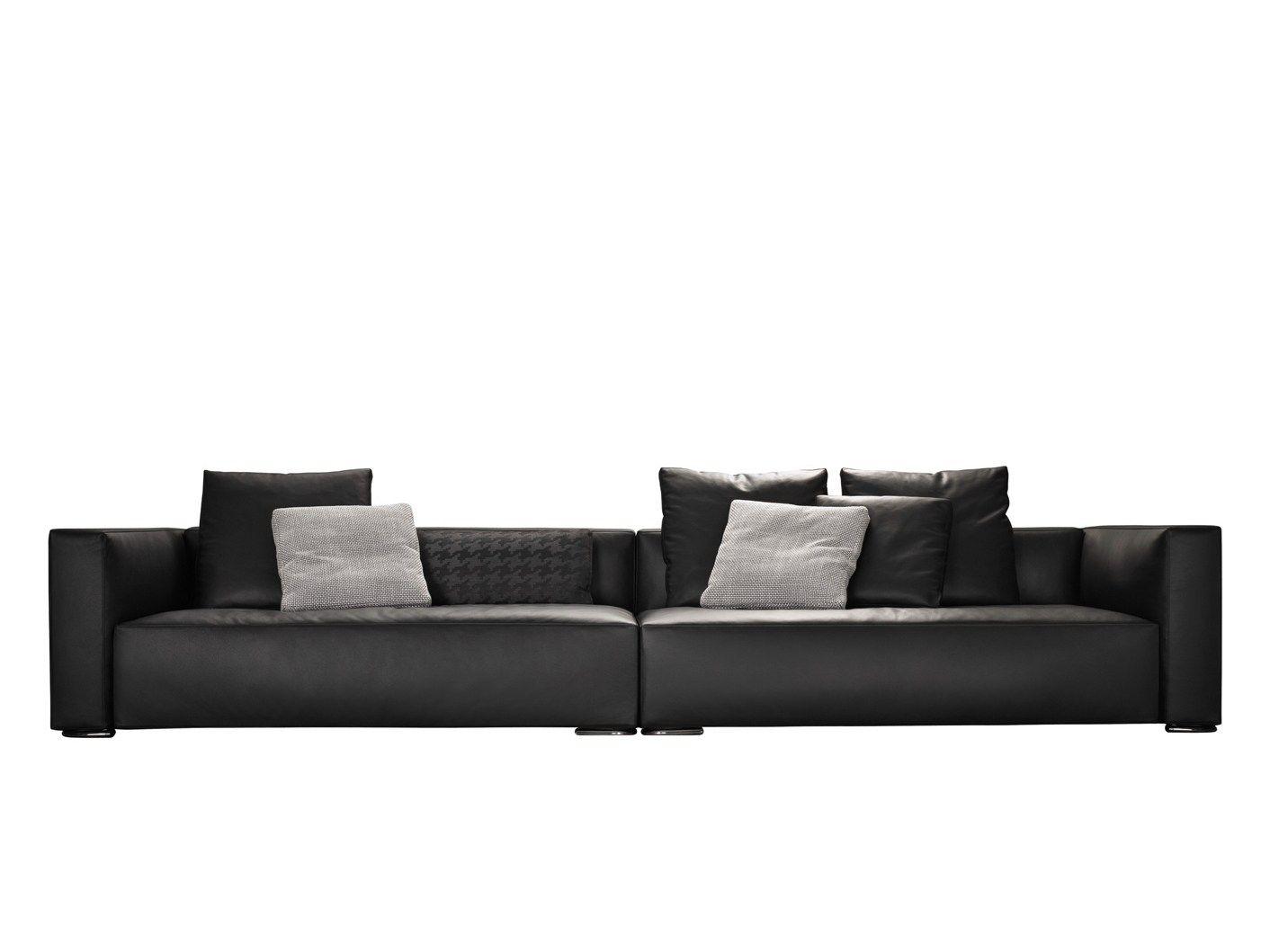 Gepolstertes sofa aus leder donovan serie donovan by minotti for Sofa aus leder