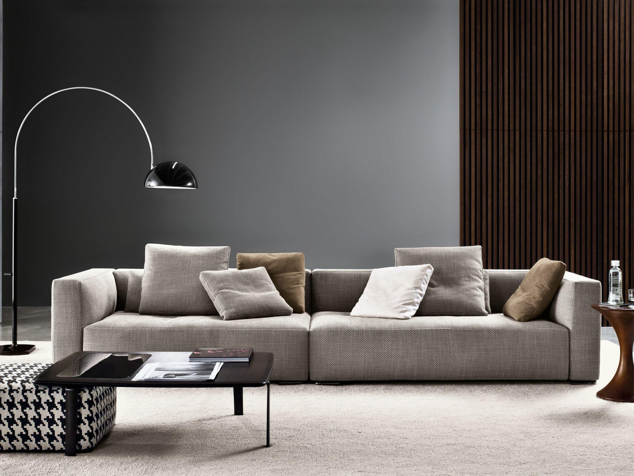 Divano angolare sfoderabile in tessuto donovan divano for Divano minotti