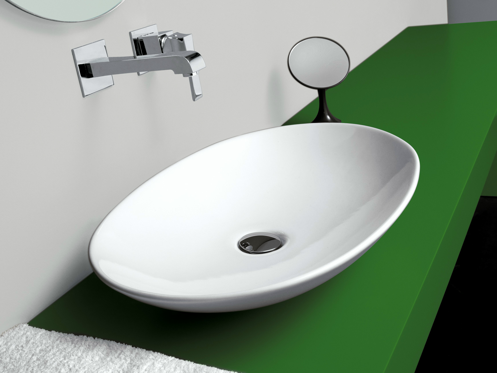 Vasque poser ovale simple collection life by newform - Lavabo in english ...