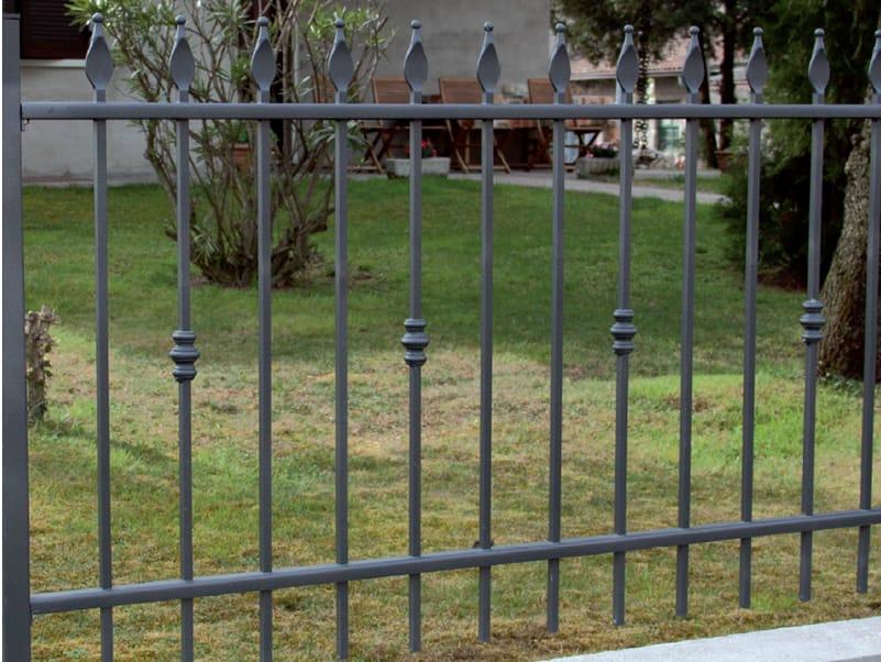 Recinzione a sbarre modulare in ferro lancia bis by cmc di - Recinzione economica giardino ...