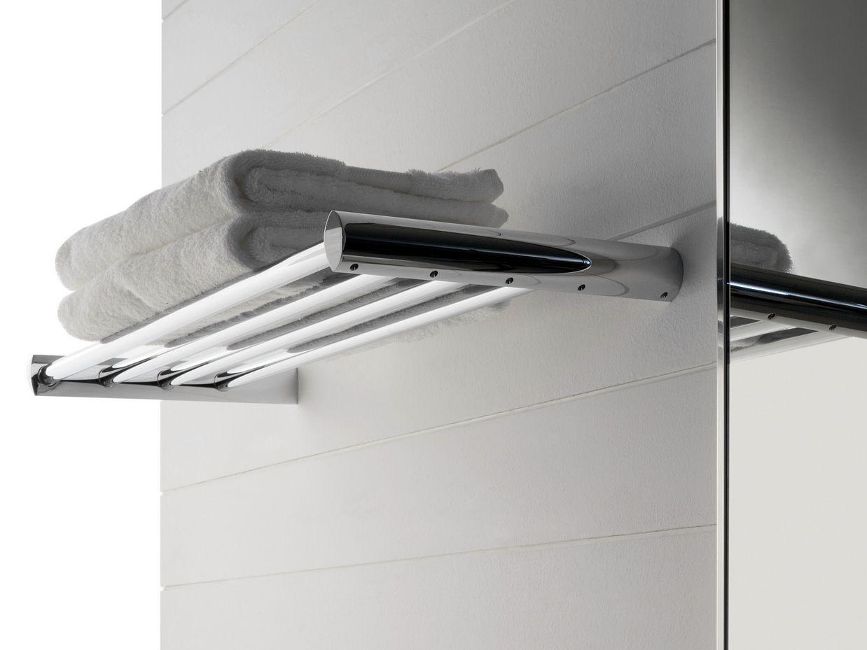 Tango mensola bagno in acciaio by zazzeri design roberto for Mensole bagno design