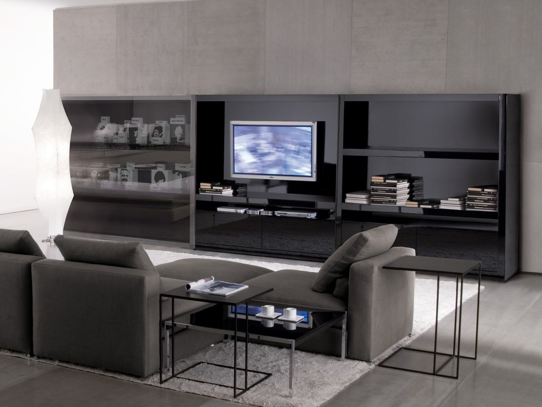 Mobile tv johns hi fi by minotti design rodolfo dordoni for Mobili hi fi design