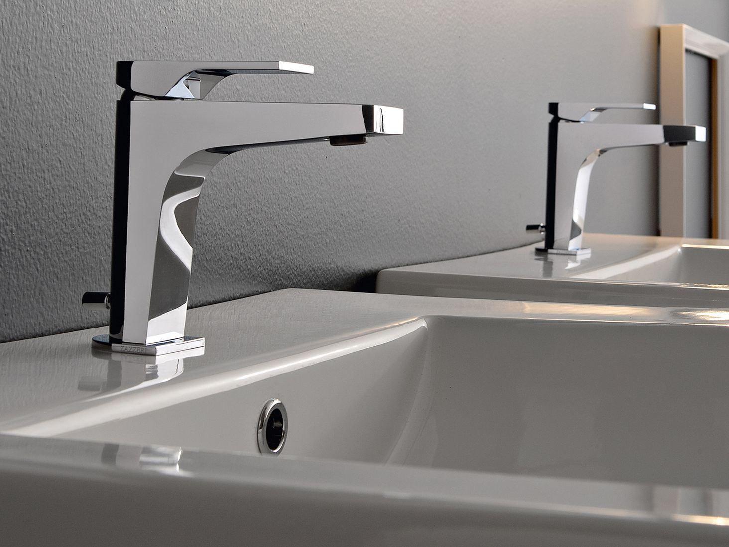 100 miscelatore per lavabo by zazzeri design fabrizio batoni for Rubinetti per lavabo