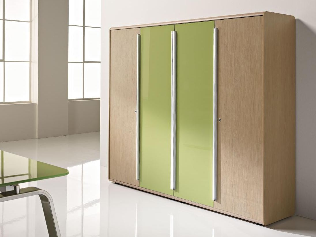 Armoire de bureau haute modulable collection seventies by for Armoire bureau design