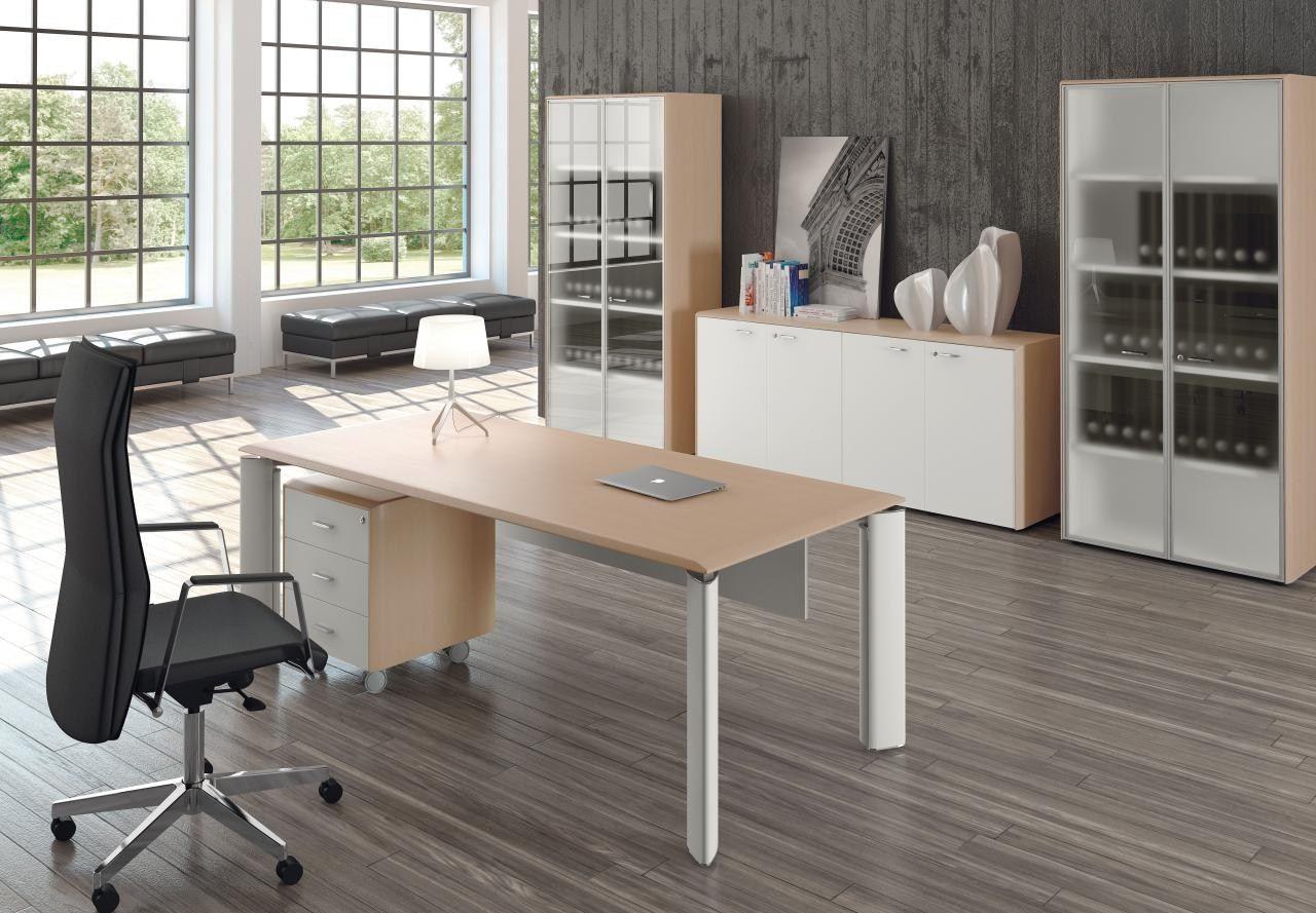 Escritorio de oficina ejecutivo rectangular colecci n fill for Evo horario oficinas