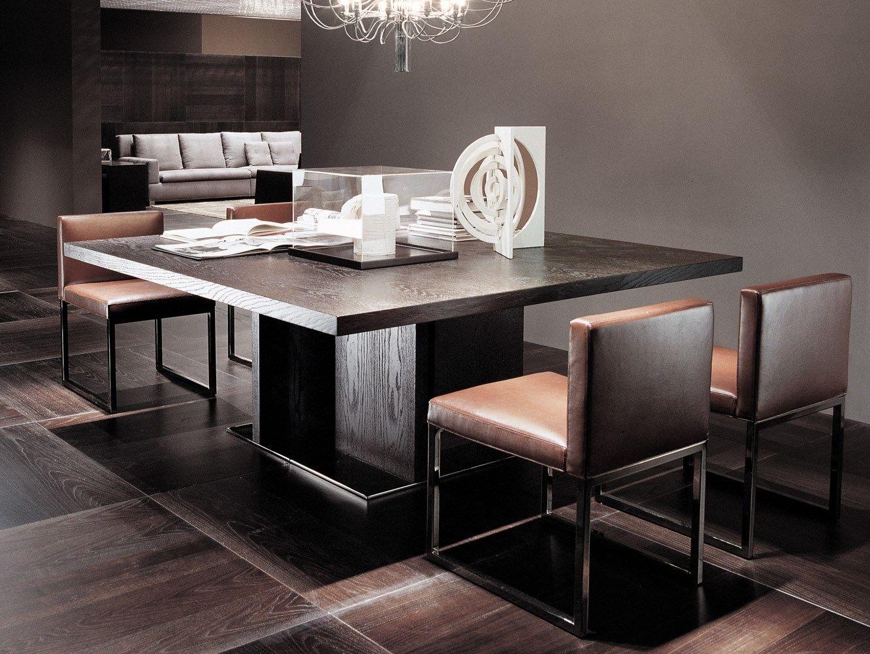 Tisch aus holz toulouse quadratischer tisch serie - Minotti tisch ...