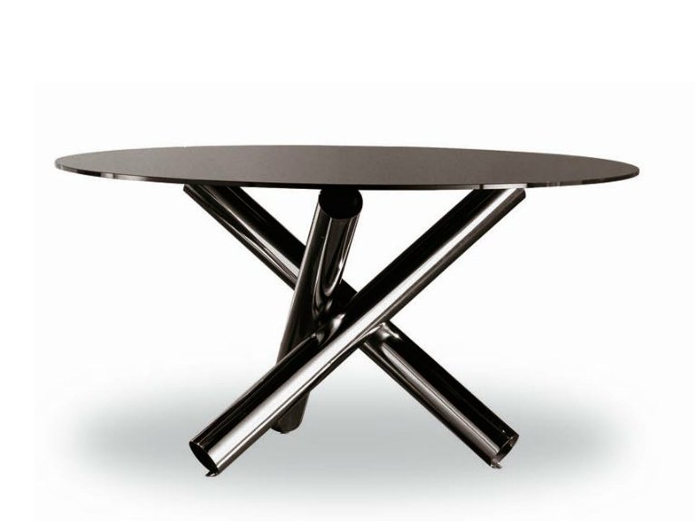 Van dyck by minotti design rodolfo dordoni for Table ronde 4 chaises
