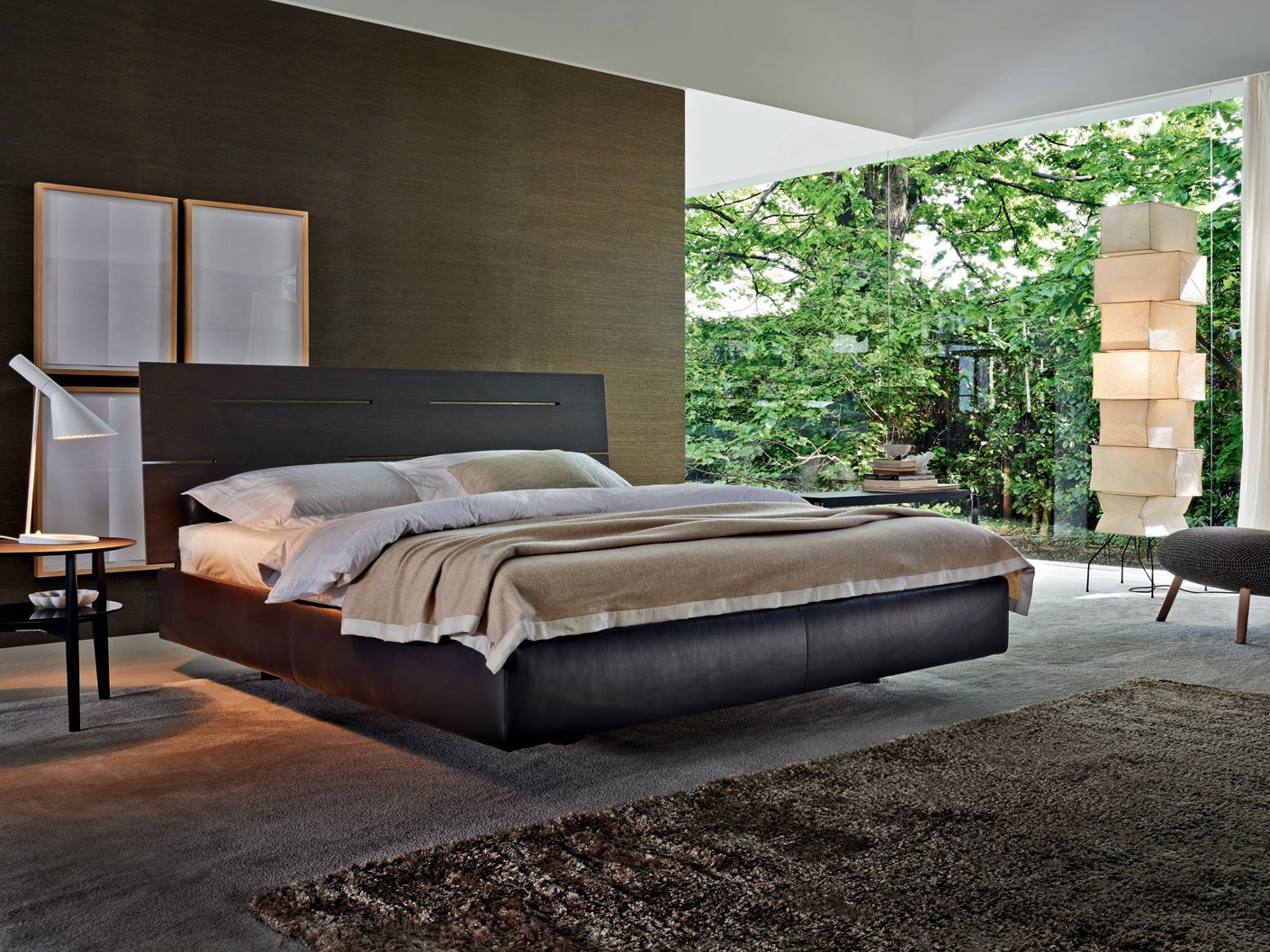 lit coffre nature lit en bois by molteni c design. Black Bedroom Furniture Sets. Home Design Ideas