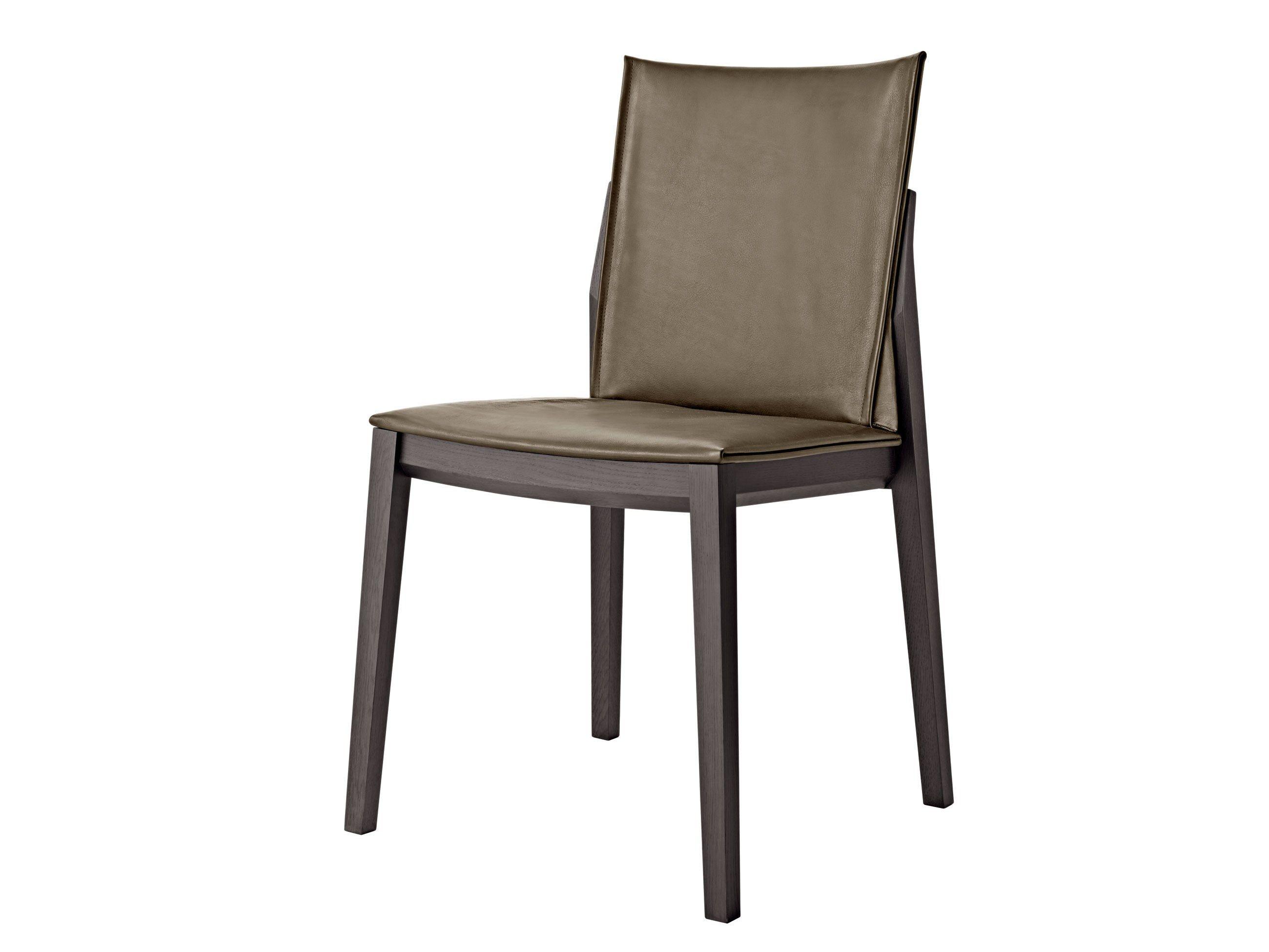chaise rembourr e en cuir avec rev tement amovible breva molteni c. Black Bedroom Furniture Sets. Home Design Ideas