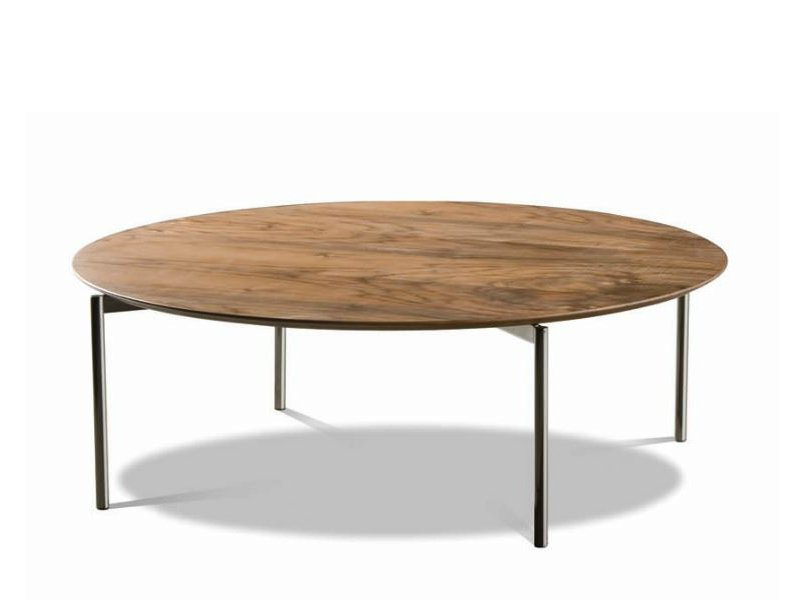 Norman table basse ronde by minotti - Table basse en bois ronde ...