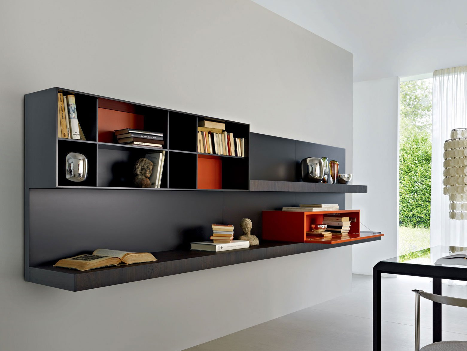 pass biblioth que suspendue by molteni c design nicola. Black Bedroom Furniture Sets. Home Design Ideas