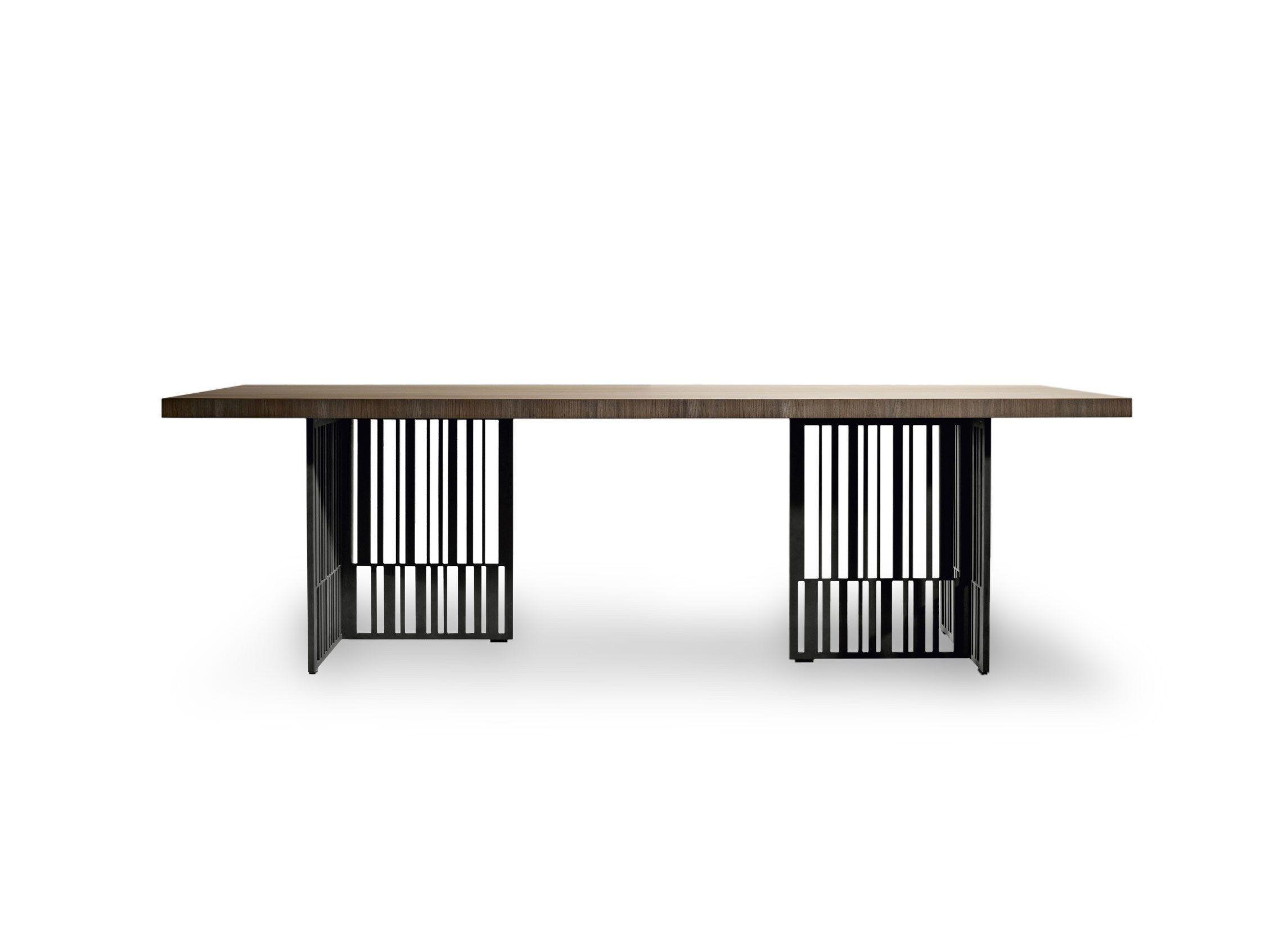 Rectangular elm table codex by molteni design patricia urquiola - Table basse molteni ...