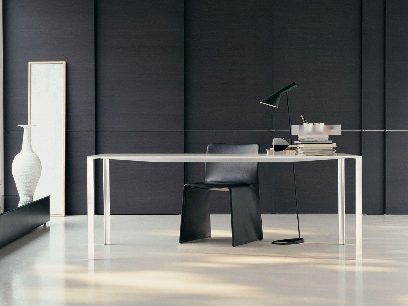 Rectangular metal table less less by molteni c design - Tavolo less molteni ...