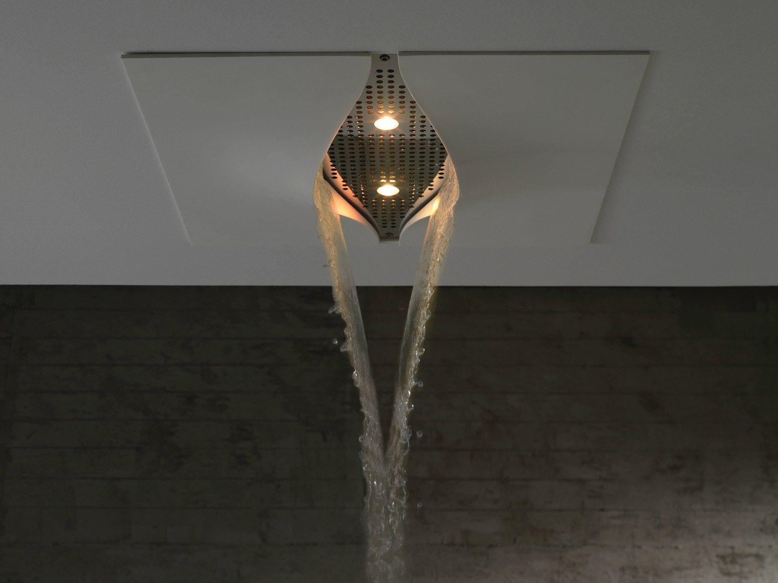 t te de douche effet pluie avec clairage int gr virgin by zazzeri design daniele bedini. Black Bedroom Furniture Sets. Home Design Ideas