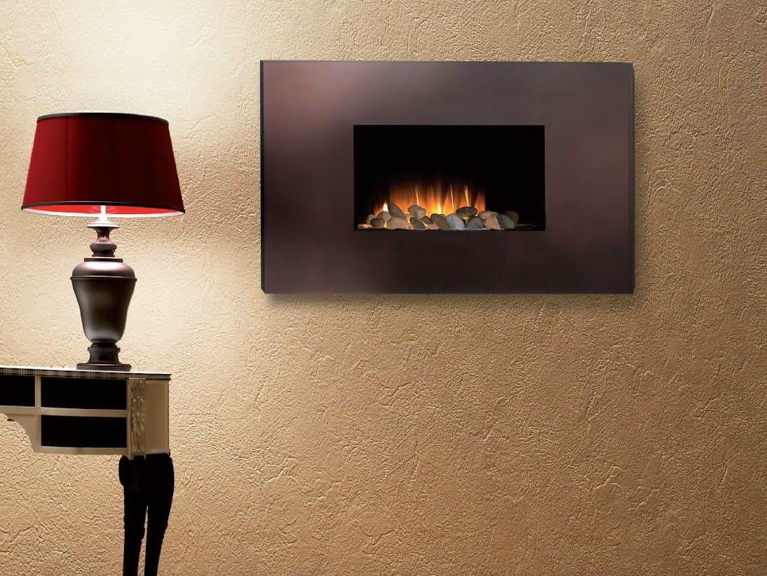 Caminetto elettrico sospeso a parete corello by british fires - Stufe elettriche a parete per bagno ...