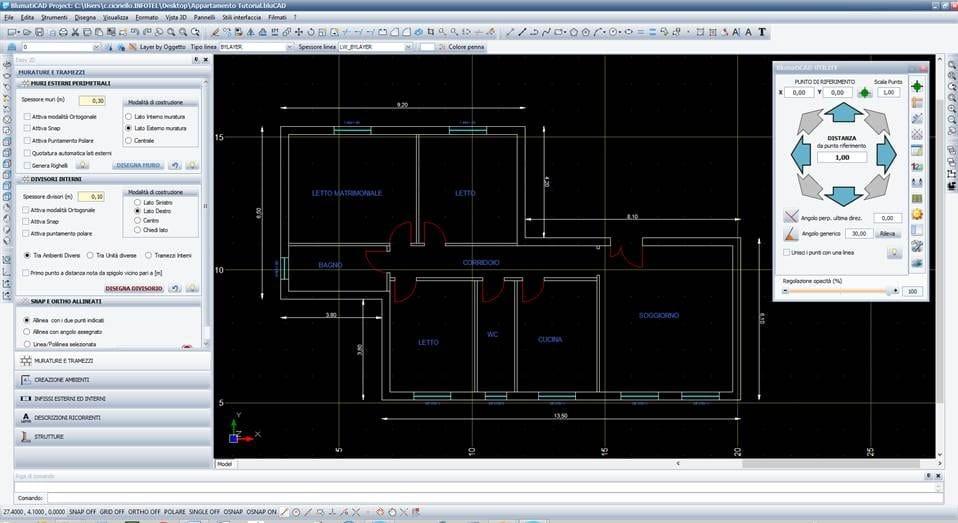 Disegno tecnico cad 2d 3d blumaticad easy 2d by blumatica for Disegno 3d online