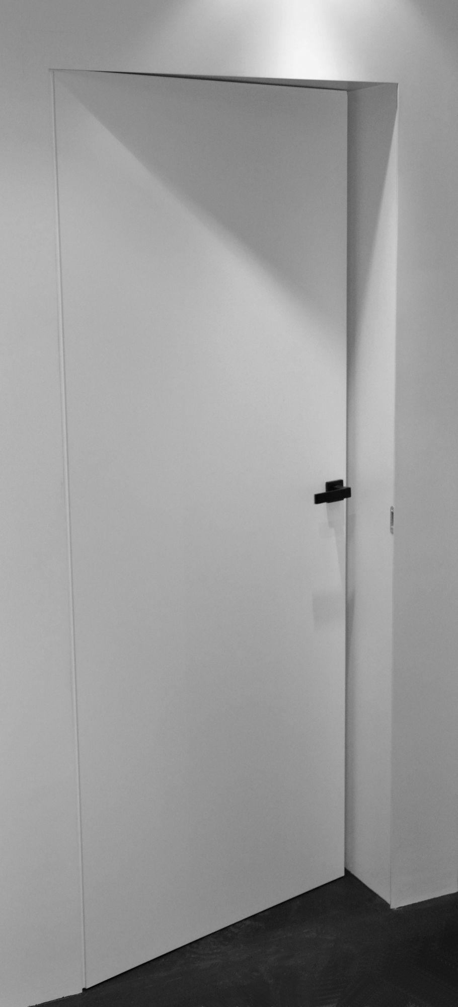 Porta a battente a filo muro collezione p by alu3 - Porta a muro ...