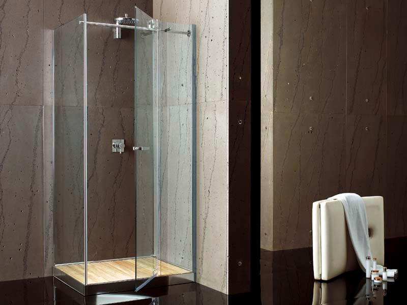 Box doccia angolare collezione filodoccia by megius - Piatto doccia raso pavimento ...