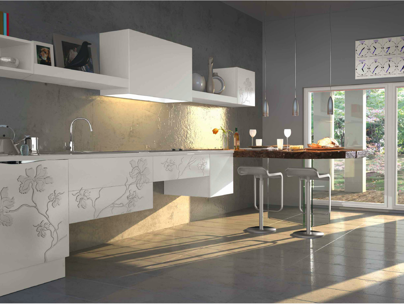 Cucina Componibile Su Misura Con Penisola IRIS Cucina Bizzotto #806E4B 1334 1003 Mobili Componibili Per Cucina Ikea