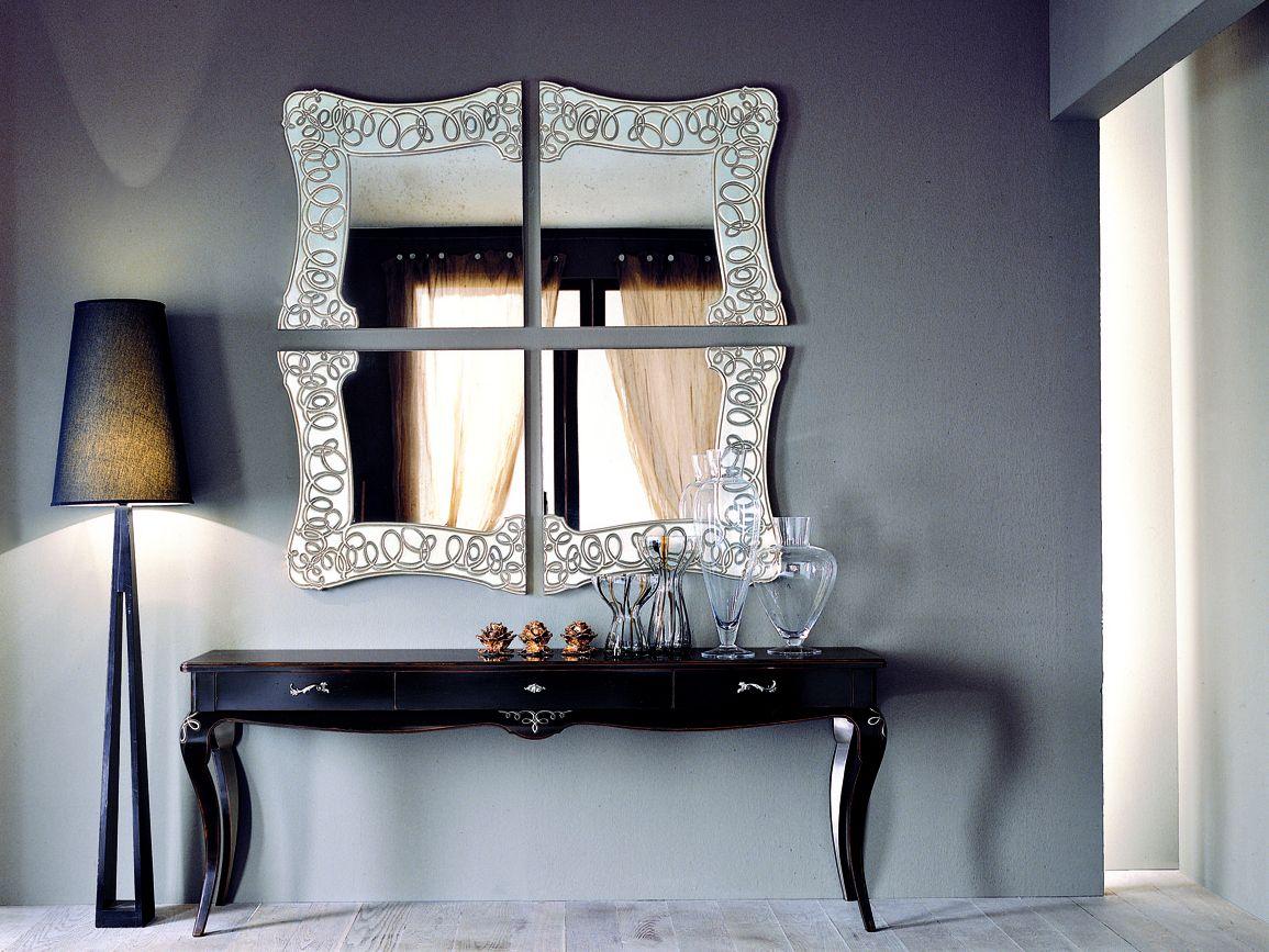 Specchiera 4 pezzi con specchio anticato c260 specchio con for Specchi arredo ingresso