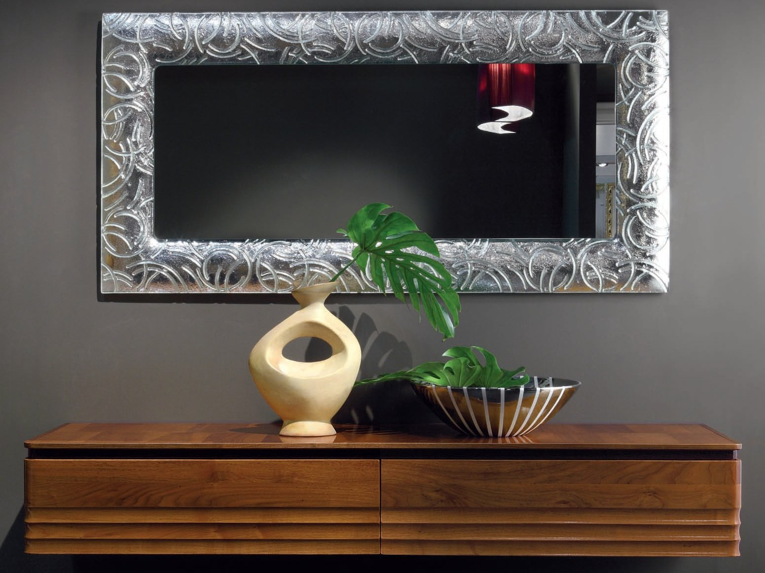 Elettra day miroir by cantiero for Miroir mural rectangulaire sans cadre
