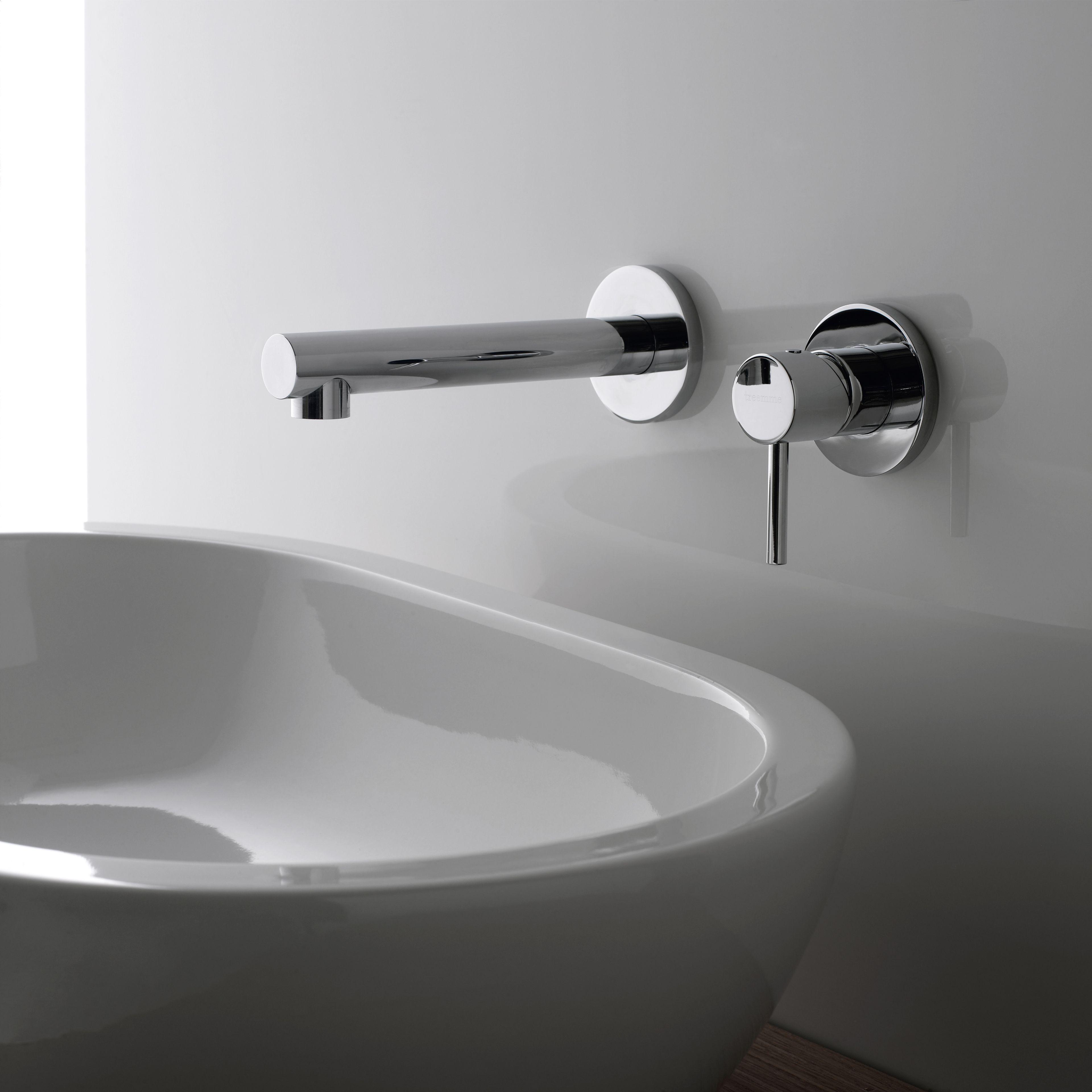 Vela miscelatore per lavabo a muro by rubinetterie 3m - Rubinetto a parete bagno ...