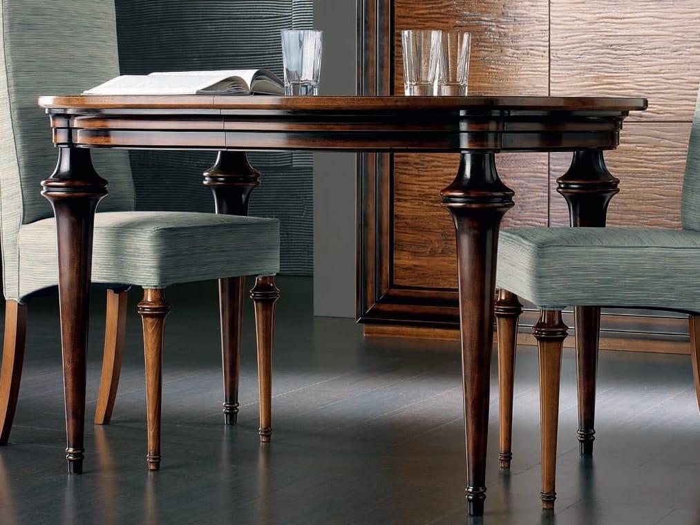 Tavolo allungabile ovale in legno massello collezione for Tavolo ovale allungabile legno massello