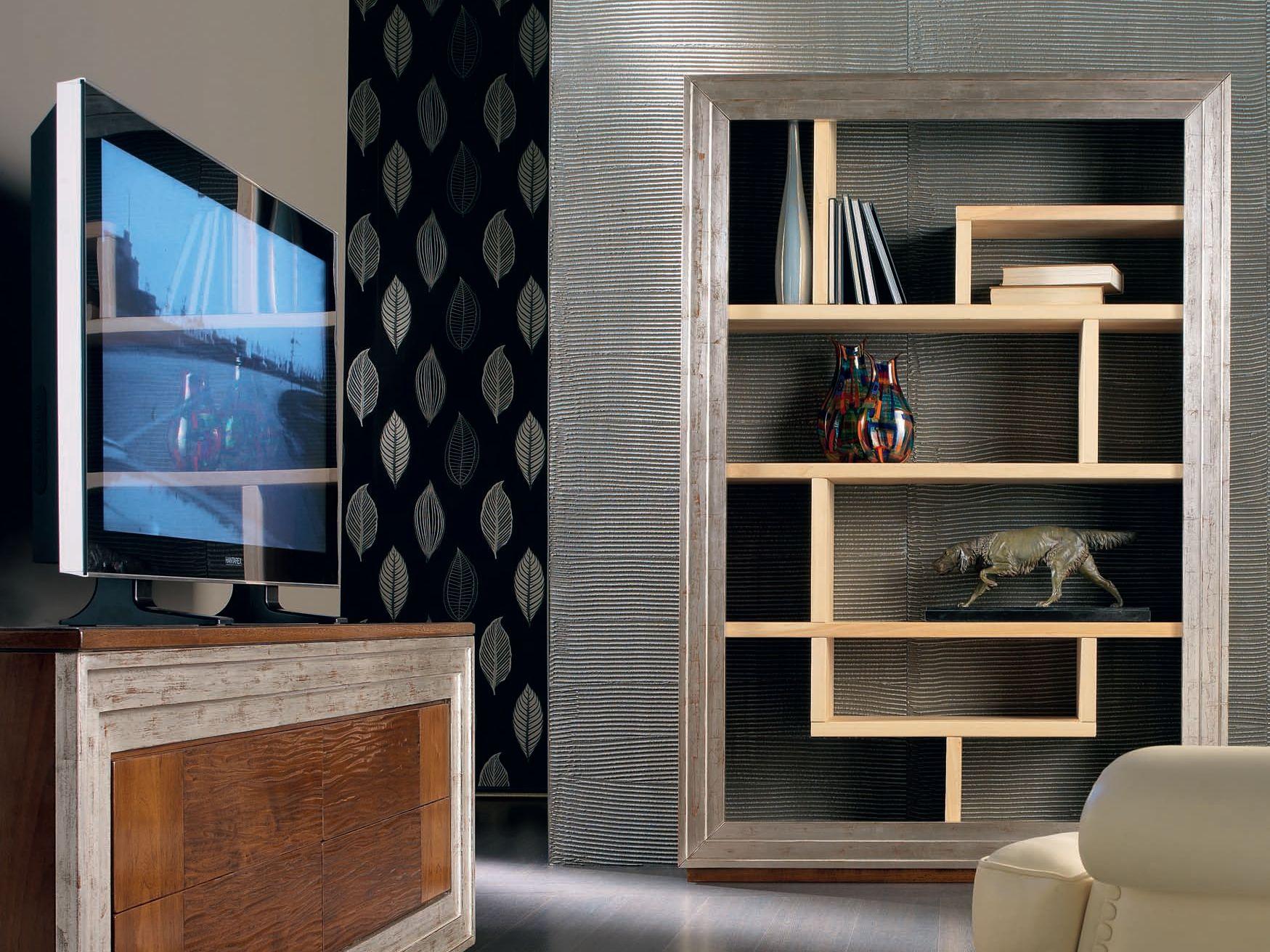 Toile day libreria foglia argento by cantiero design - Porte a parete ...