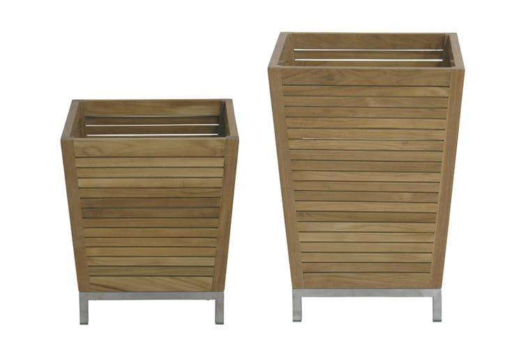 Fioriera in legno ozone collezione berbeda by il giardino - Il giardino di legno ...