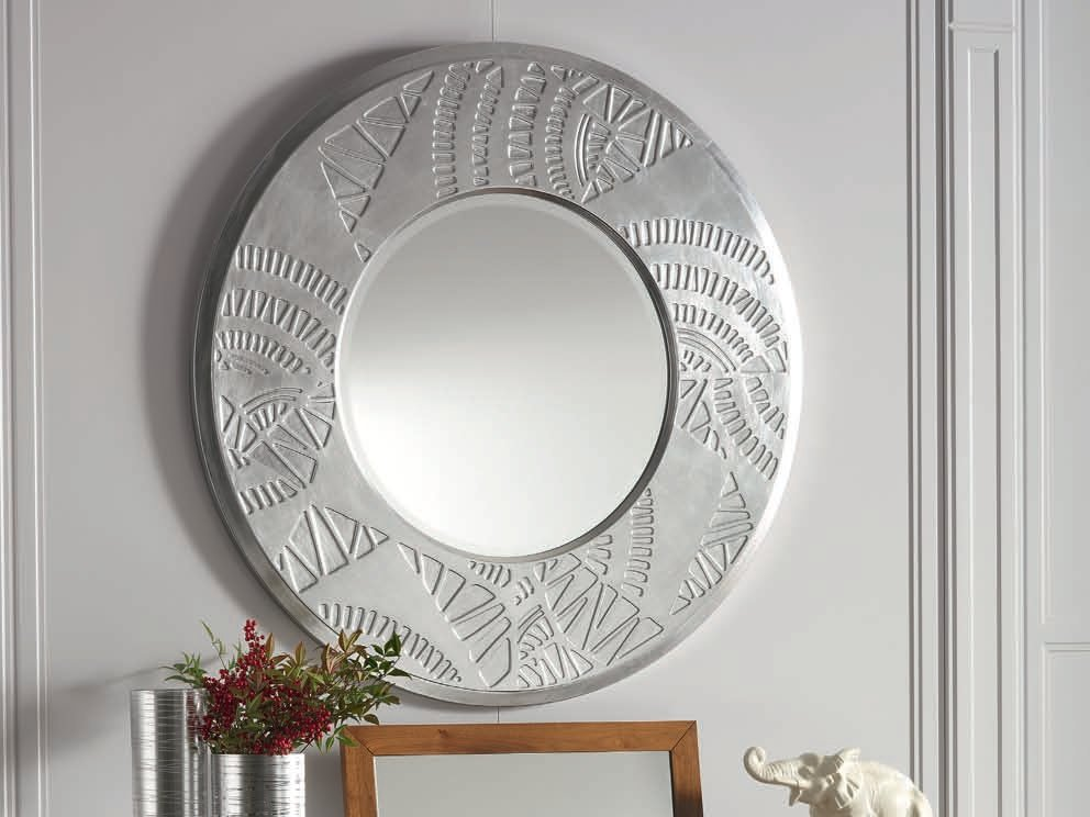 Toile night miroir rond by cantiero design arbet design for Miroir rond argente