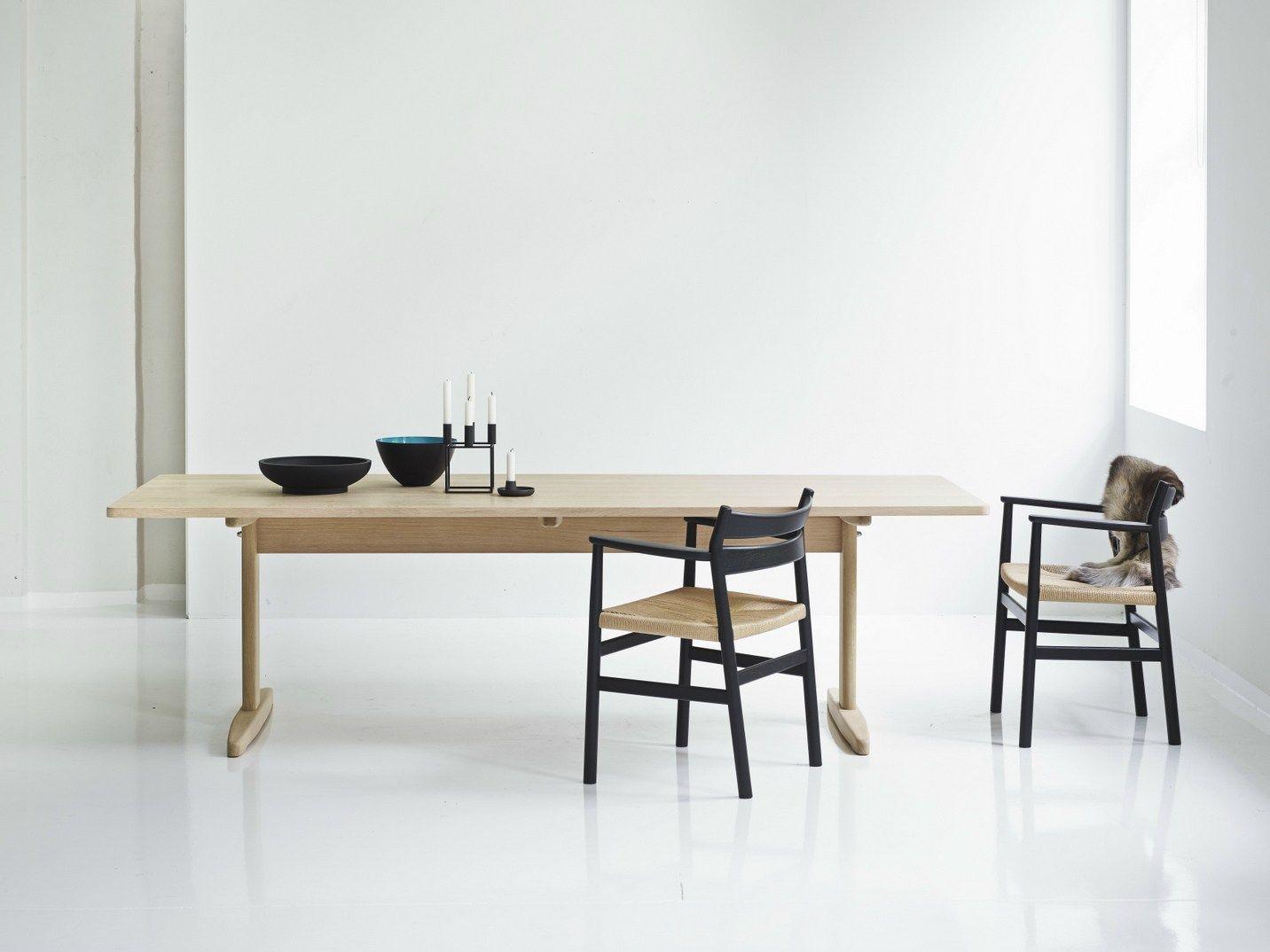 Tavolo allungabile rettangolare shaker table by dk3 design for Tavolo rettangolare design