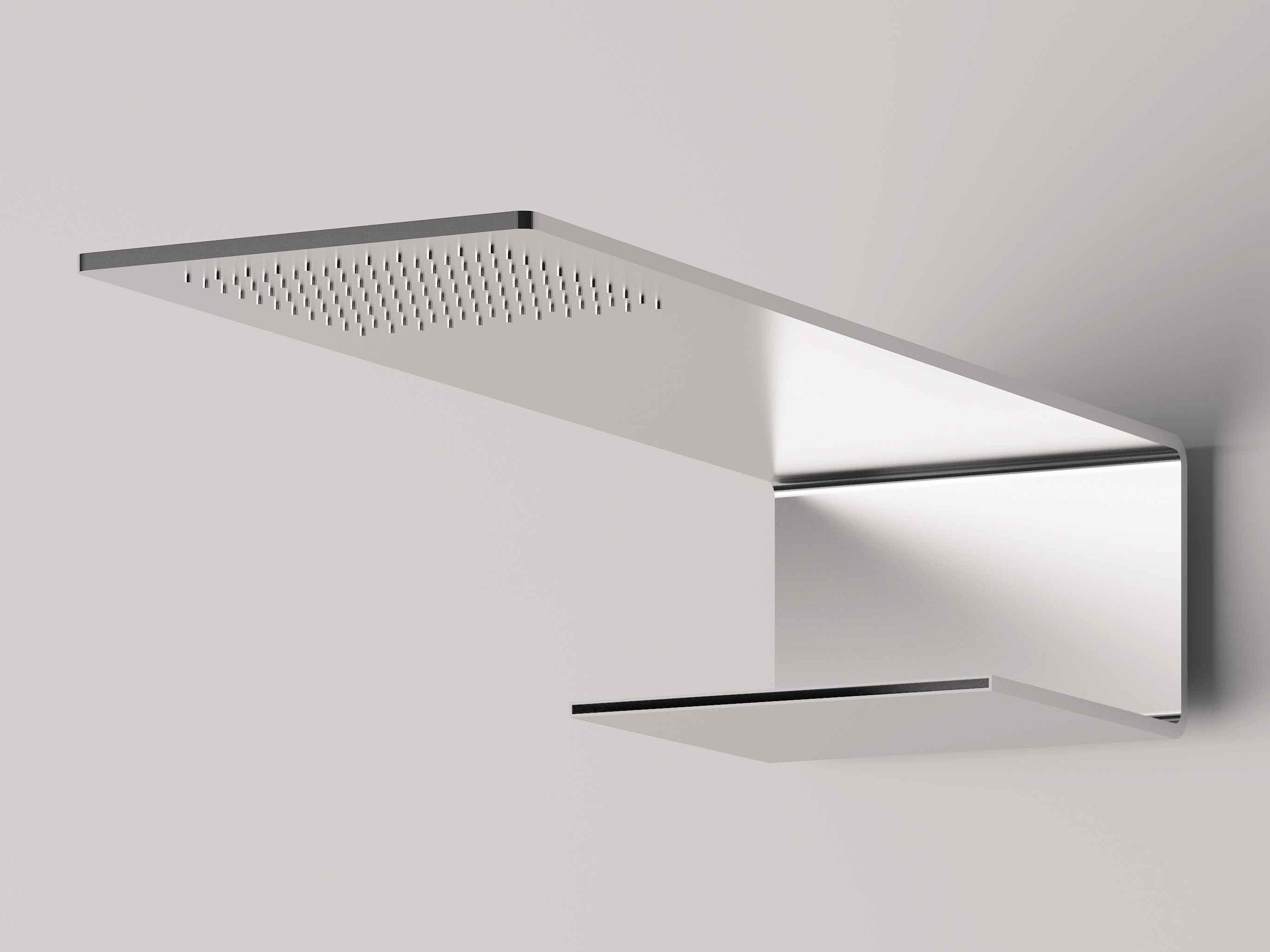 5mm soffione a muro by rubinetterie 3m design oco studio - Soffione a cascata ...