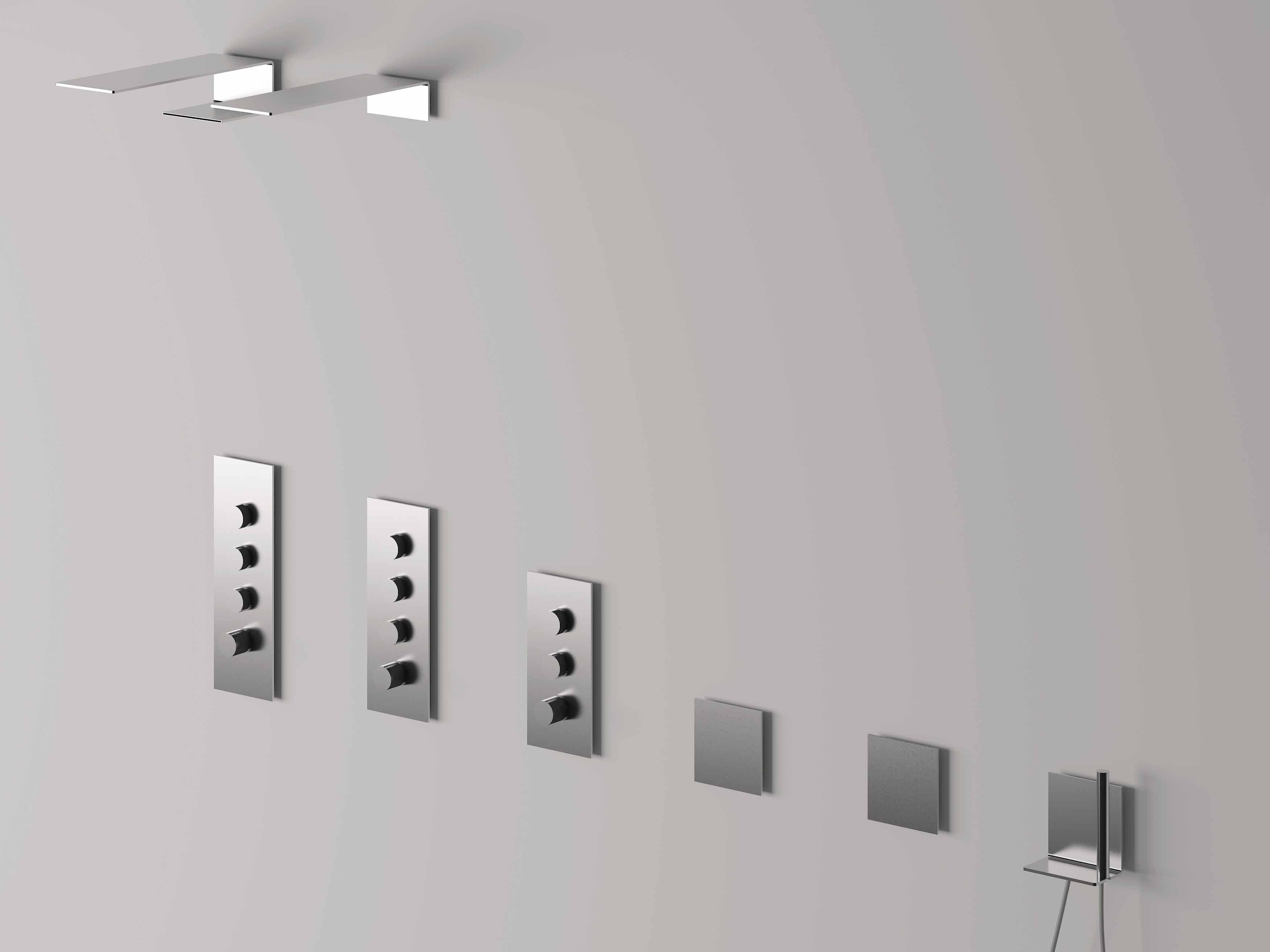 5mm t te de douche mural by rubinetterie 3m design oco studio - Tete de douche pluie ...