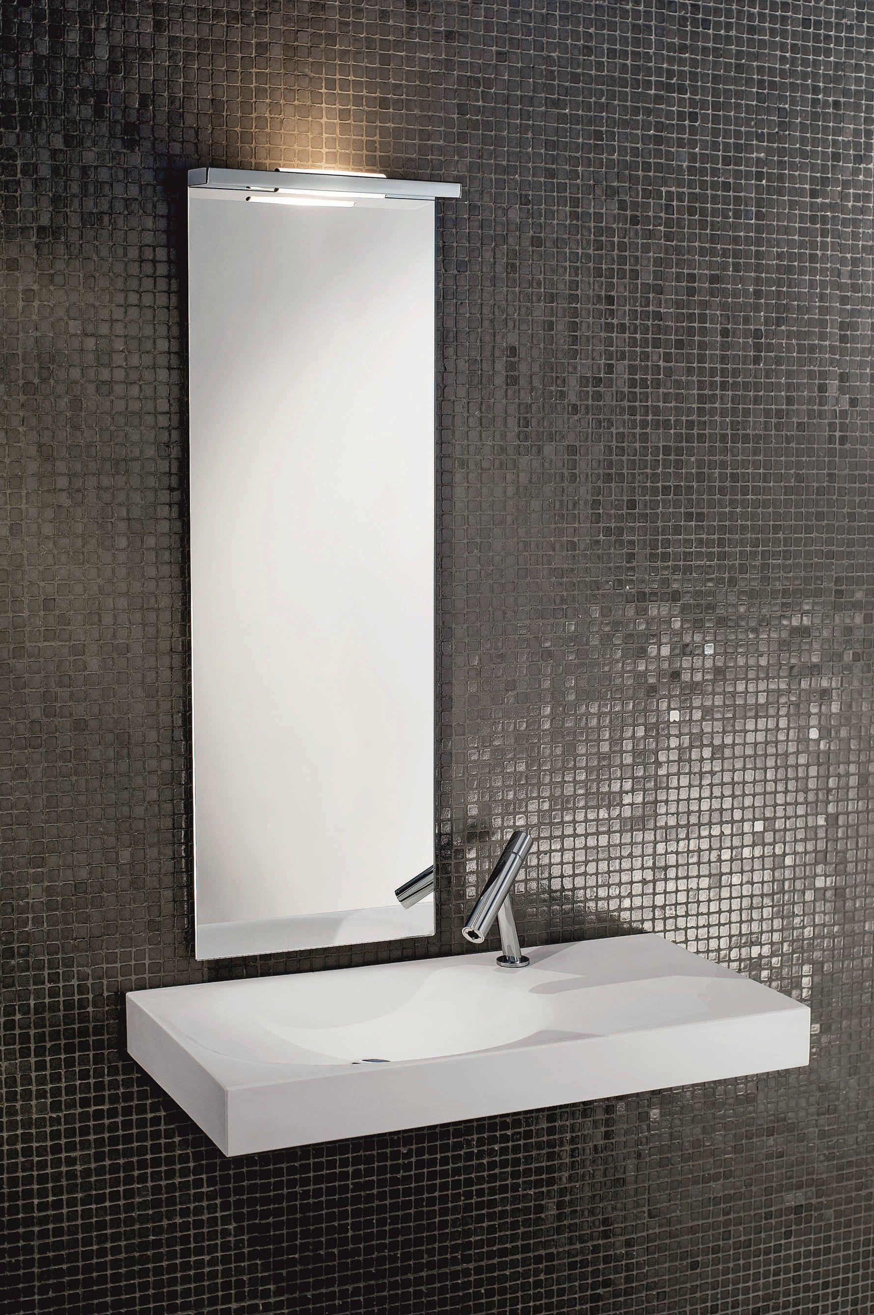 Lampada da parete a luce diretta per bagno slim 1 - Lampada da bagno ...