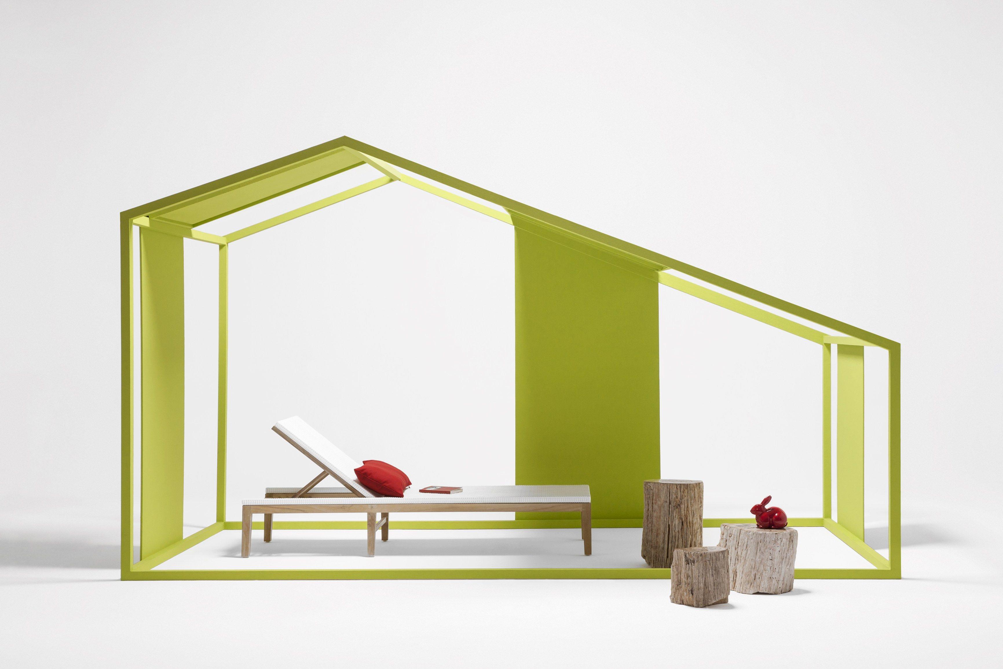 Lettino da giardino reclinabile in fibra sintetica - Il giardino di legno ...