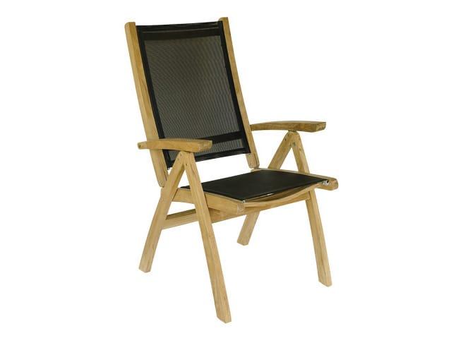 Sedia da giardino reclinabile in legno con braccioli - Il giardino di legno ...