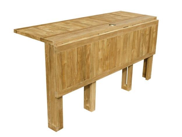 Telemaco tavolo da giardino rettangolare by il giardino di legno - Tavolo pieghevole da giardino ...