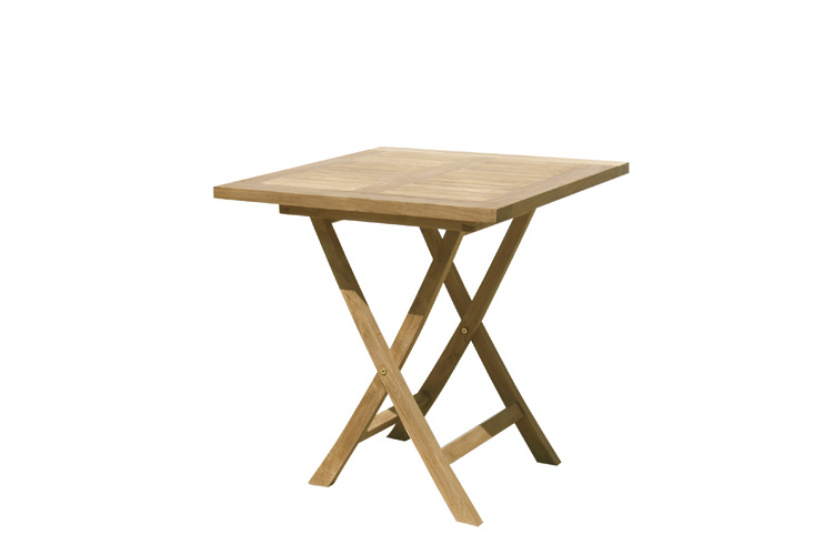 Tavolo da giardino pieghevole quadrato in legno singaraja - Tavoli da esterno pieghevoli ...