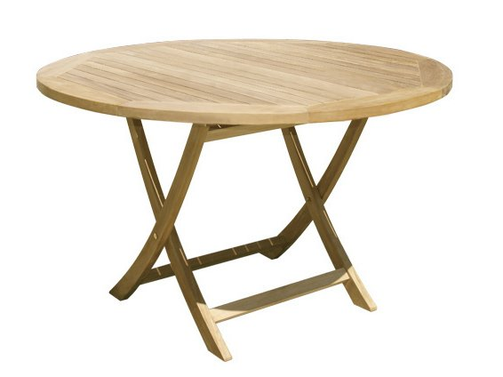table de jardin pliante ronde en bois achille by il. Black Bedroom Furniture Sets. Home Design Ideas